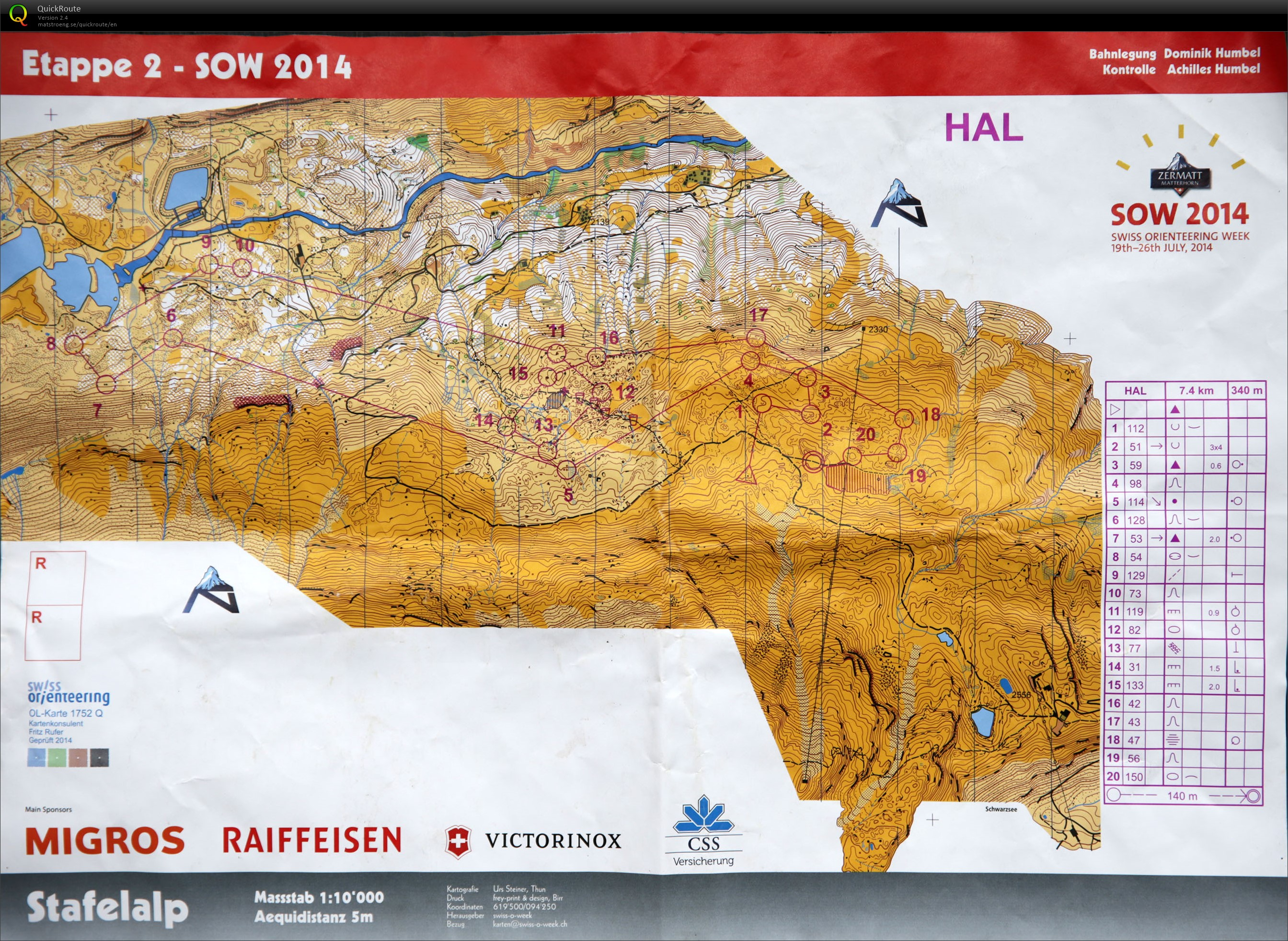 Swiss Orienteering Week 2014, day 2 (21/07/2014)